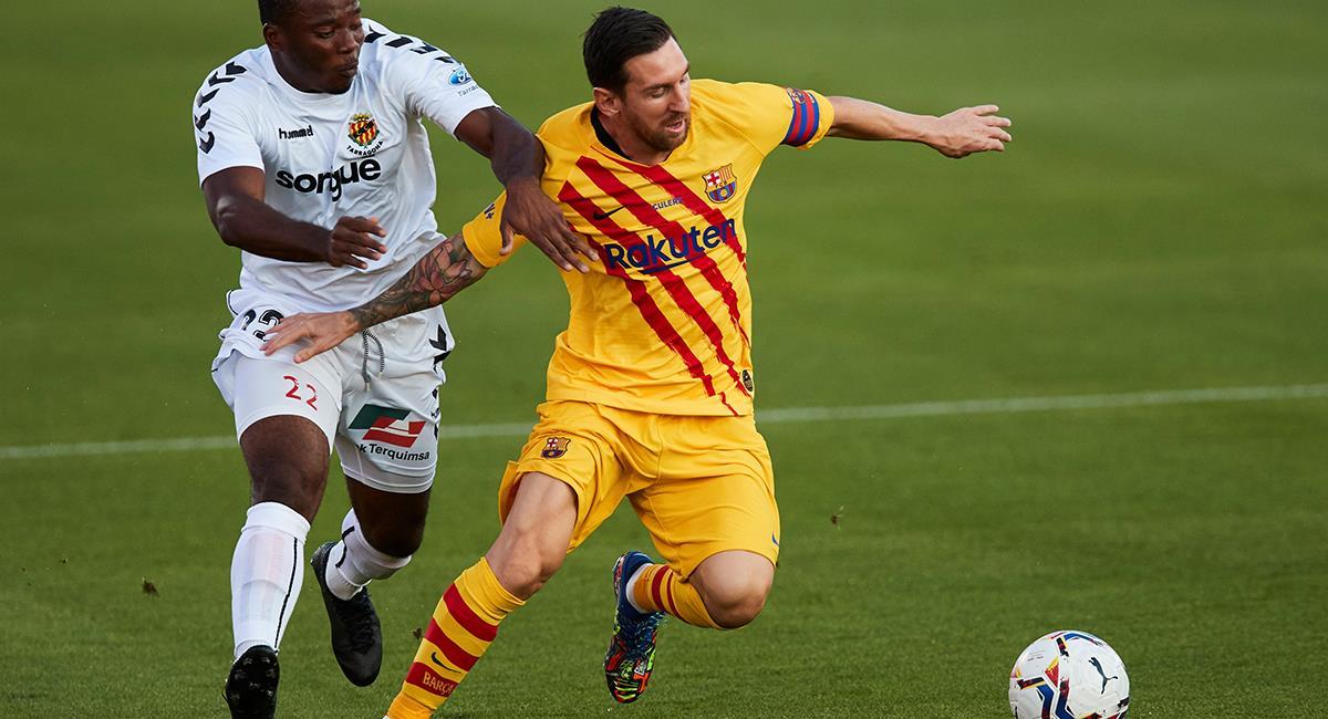 Lionel Messi vistió la camiseta del Barcelona en amistoso. Foto: EFE