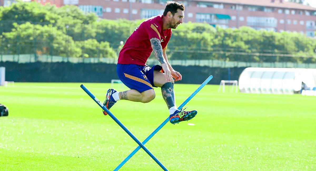 Barcelona disputará su primer amistoso de la temporada 2020/21 con Messi a la cabeza. Foto: Twitter @FCBarcelona_es