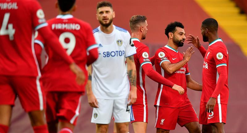 Liverpool sufrió para vencer 4-3 al Leeds United. Foto: EFE