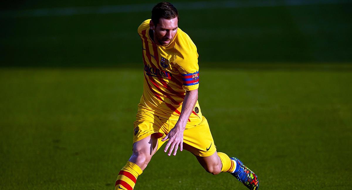 Messi jugó en amistoso de Barcelona. Foto: EFE