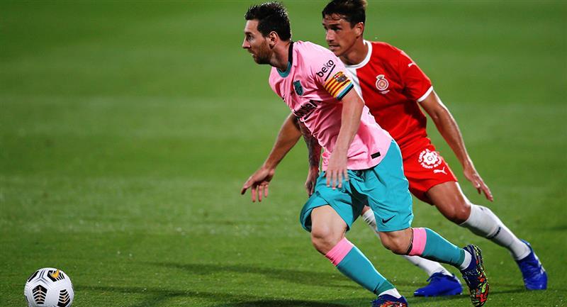 Lionel Messi marcó doblete con Barcelona. Foto: EFE