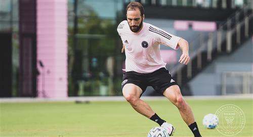 Gonzalo Higuaín: así fue su primer entrenamiento en el Inter Miami FC de la MLS
