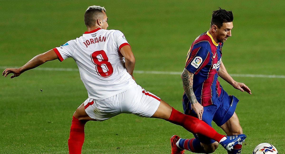 Lionel Messi intentó ser solución en el ataque del Barcelona. Foto: EFE