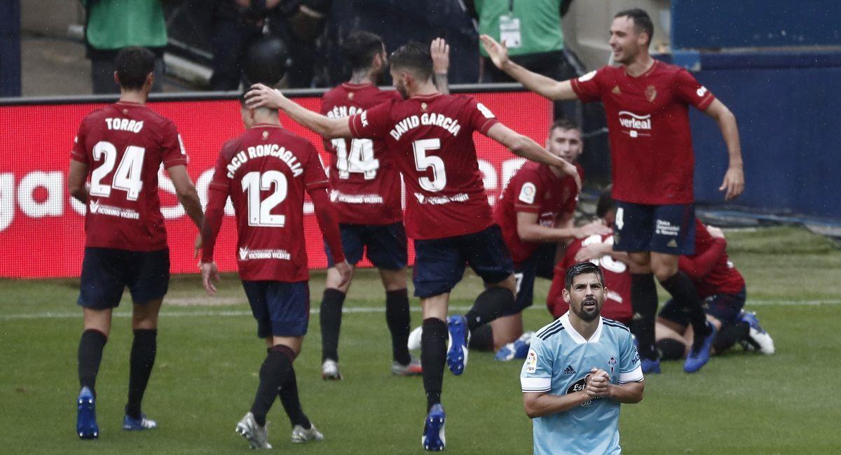 Roncaglia y Calleri le dieron el triunfo al Osasuna sobre el Celta de Vigo. Foto: EFE