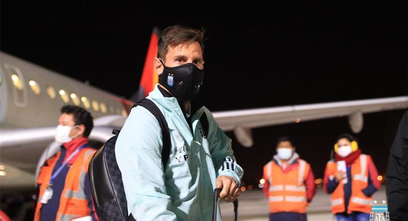 La Selección Argentina ya está en La Paz sin Paulo Dybala. Foto: Twitter @Argentina