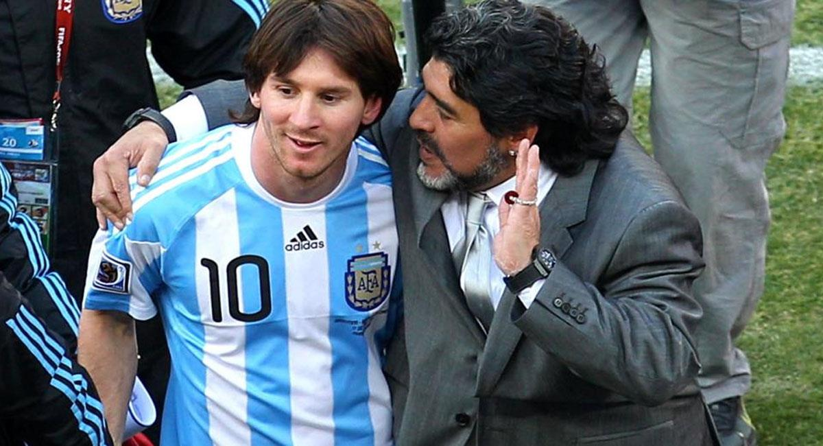 """Messi le envía """"toda la fuerza del mundo"""" a Maradona. Foto: AFA"""