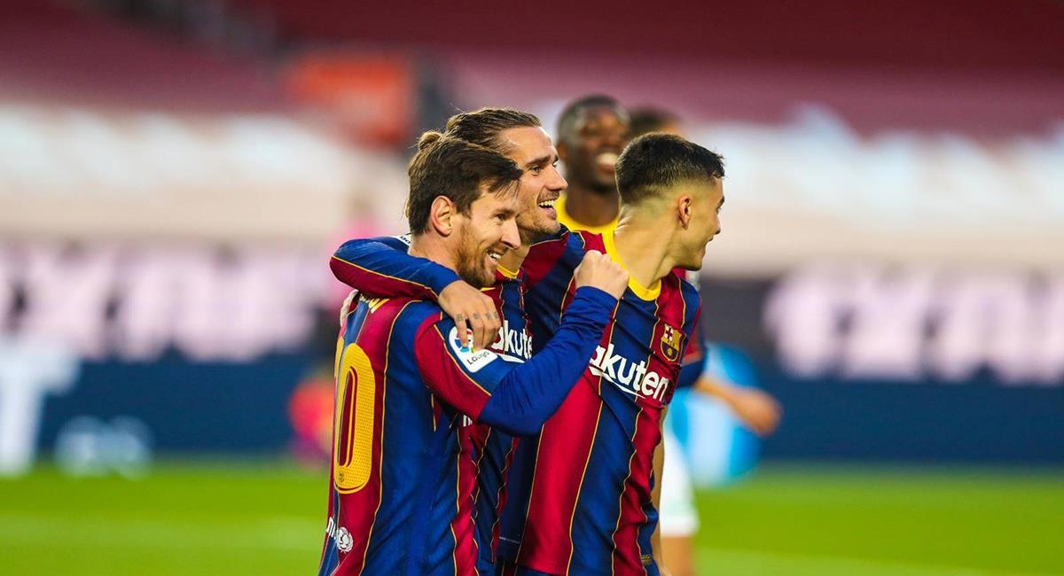 Lionel Messi marcó dos goles y fue clave para triunfo en Barcelona. Foto: Twitter @FCBarcelona_es