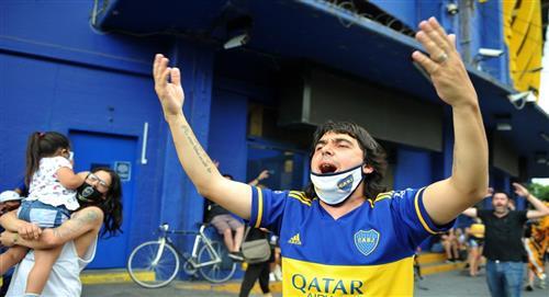 Diego Maradona: crean altar en su honor en La Bombonera