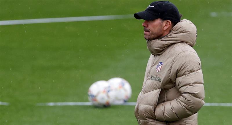Diego Simeone optimista de ganarle al Bayern Munich. Foto: EFE