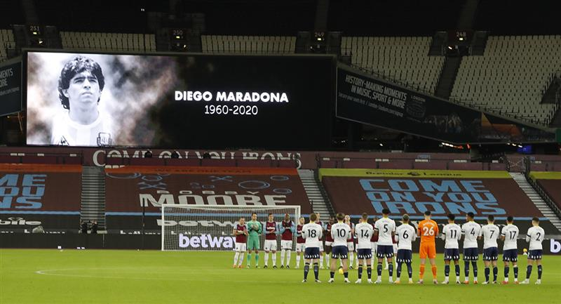 Diego Maradona recibe homenajes a nivel mundial. Foto: EFE