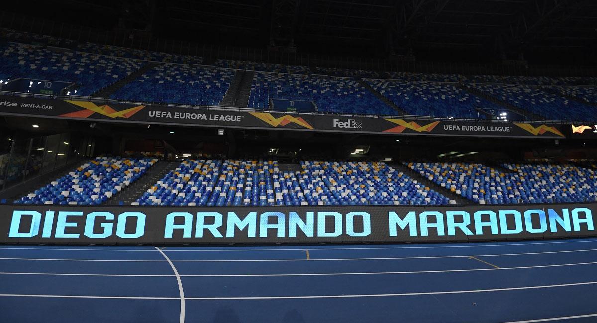 Nápoles le pone 'Diego Armando Maradona' a su estadio. Foto: EFE