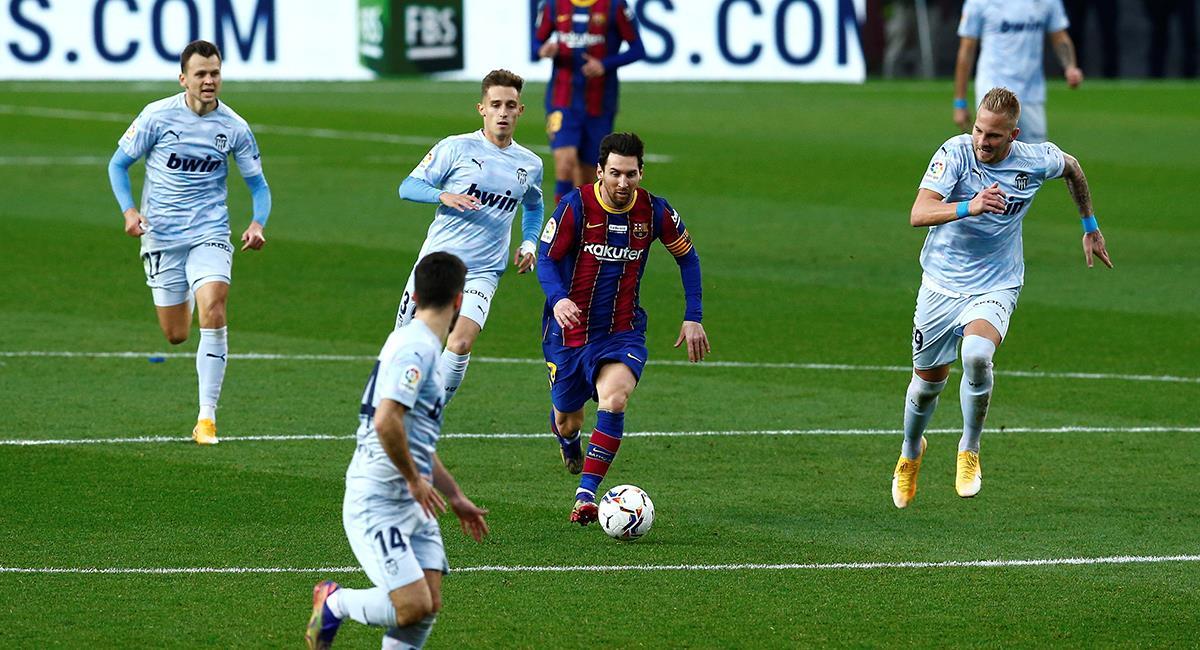 Messi no estará presente en el último partido del año de Barcelona. Foto: EFE