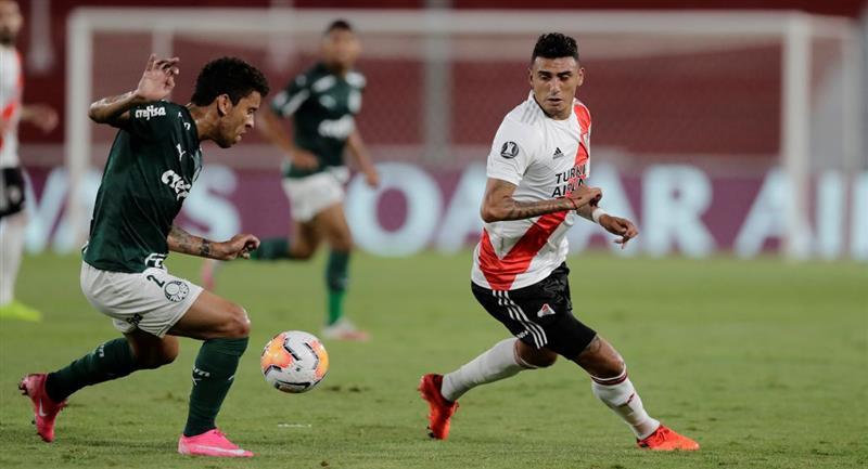 River Plate se volverá a ver las caras con Palmeiras. Foto: EFE