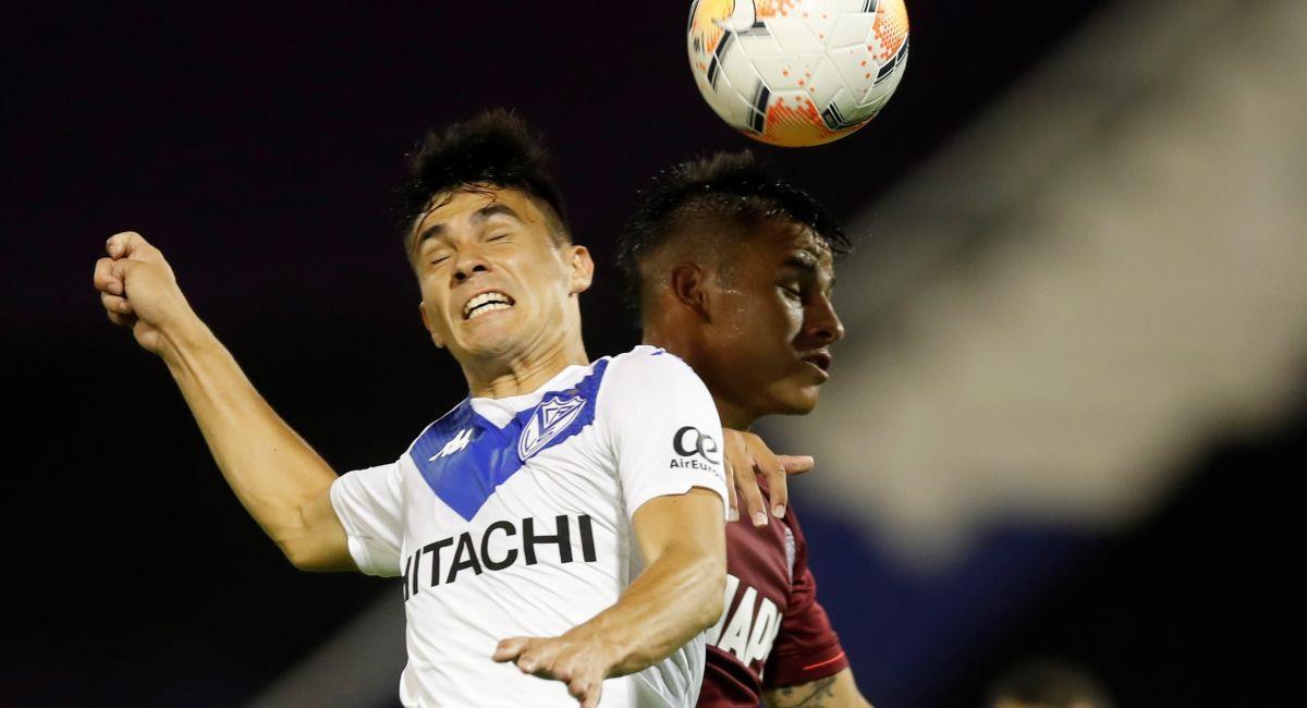 Vélez y Lanús se enfrentará por estar en la final de la Copa Sudamericana. Foto: EFE