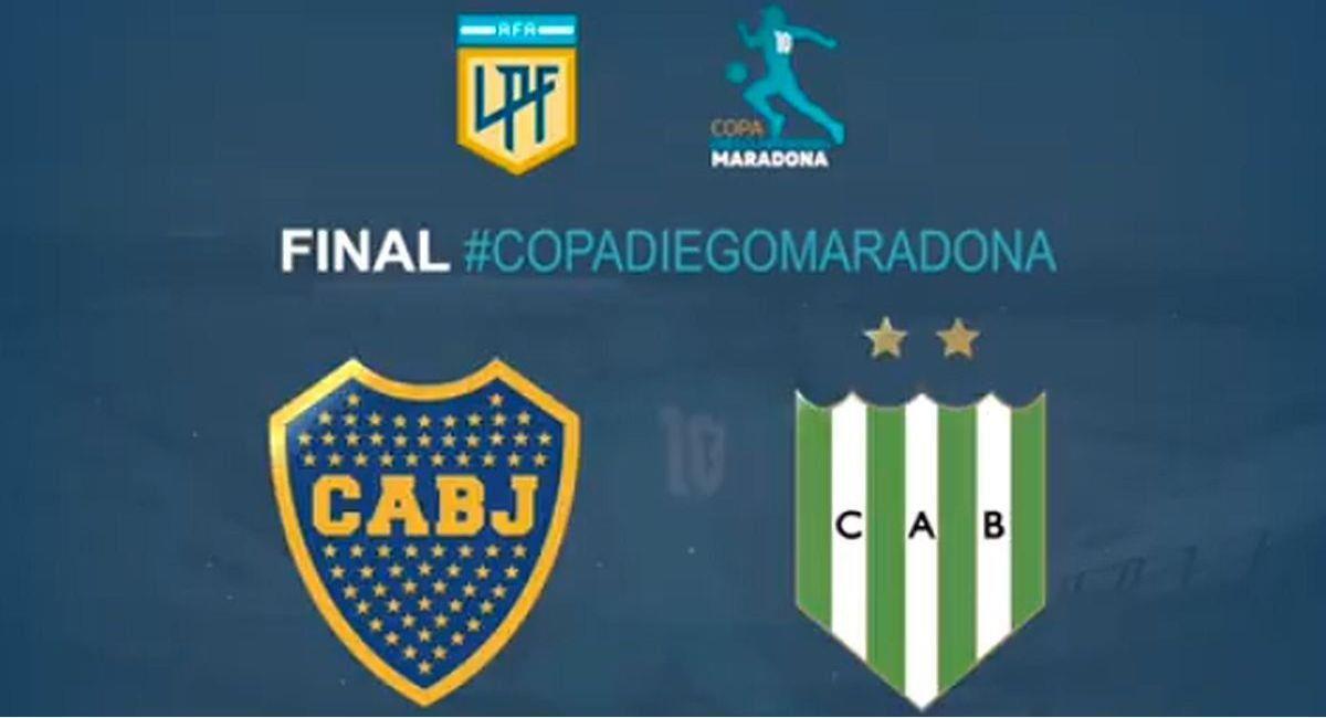 Boca Juniors y Banfield disputarán la final de la Copa Diego Maradona. Foto: Twitter