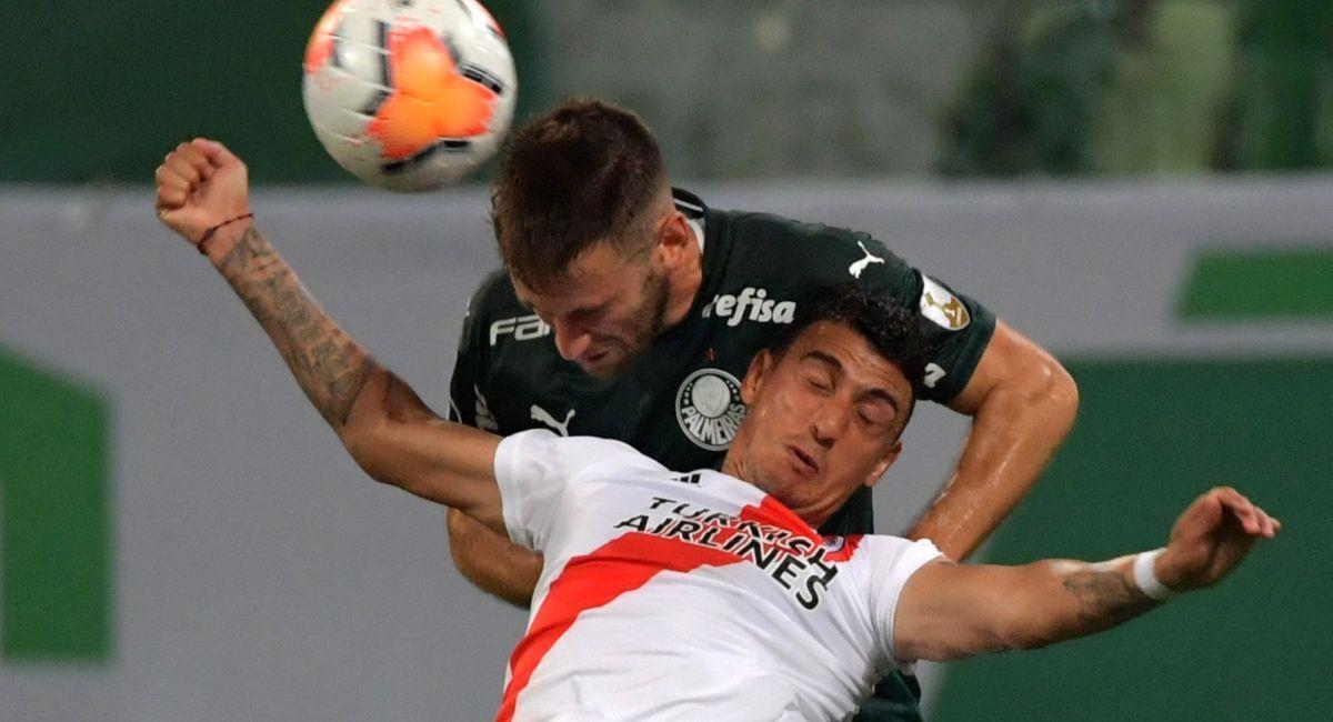 River fue eliminado por Palmeiras en la Copa Libertadores. Foto: EFE