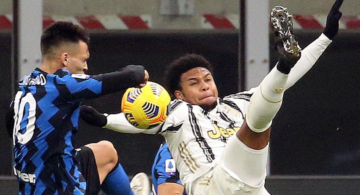 Lautaro Martínez no anotó, pero el Inter venció a la Juventus. Foto: EFE