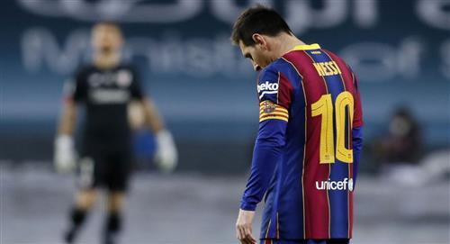 Lionel Messi fue expulsado por primera vez con el Barcelona