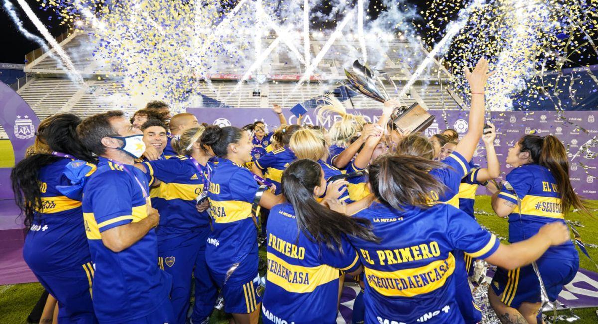 Boca Juniors venció a River Plate en la final del fútbol femenino. Foto: Facebook Club Boca Juniors