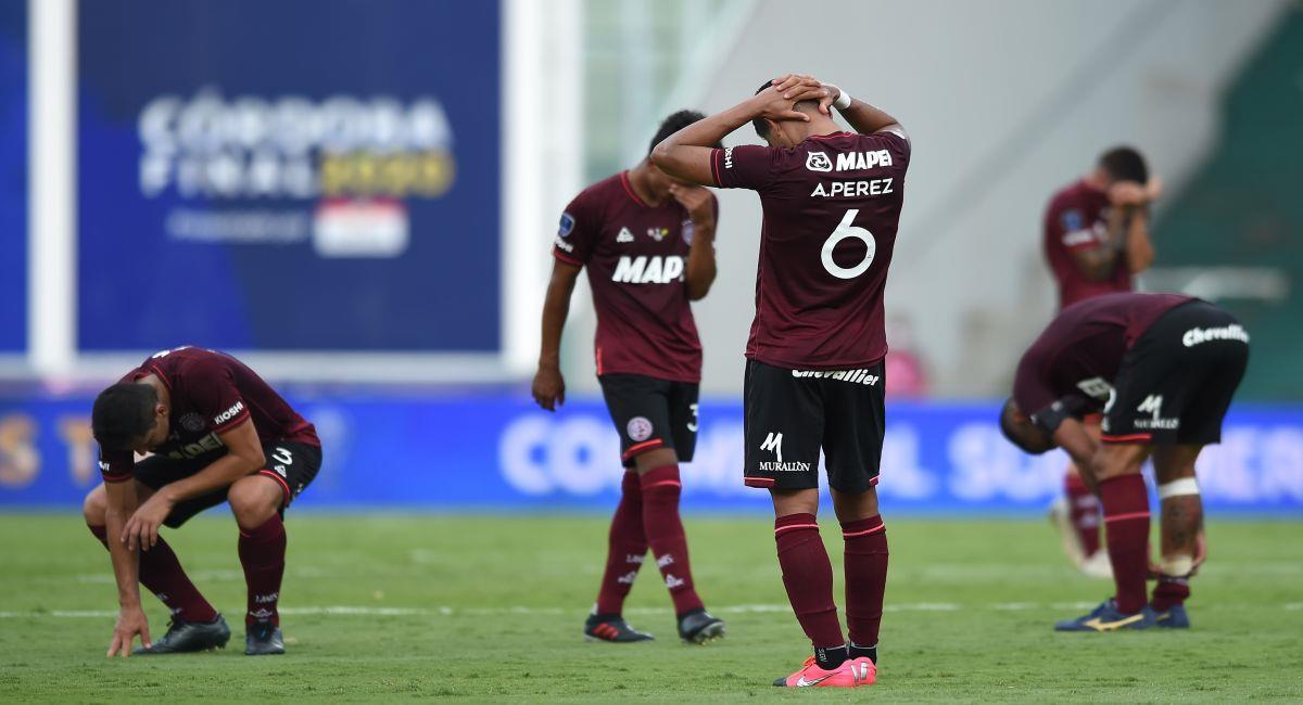 Lanús cayó derrotado en la final de la Copa Sudamericana. Foto: EFE