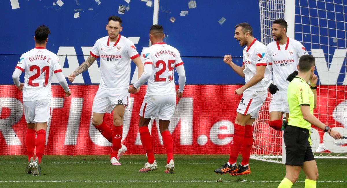 Sevilla ganó con un gol de Lucas Ocampos. Foto: EFE