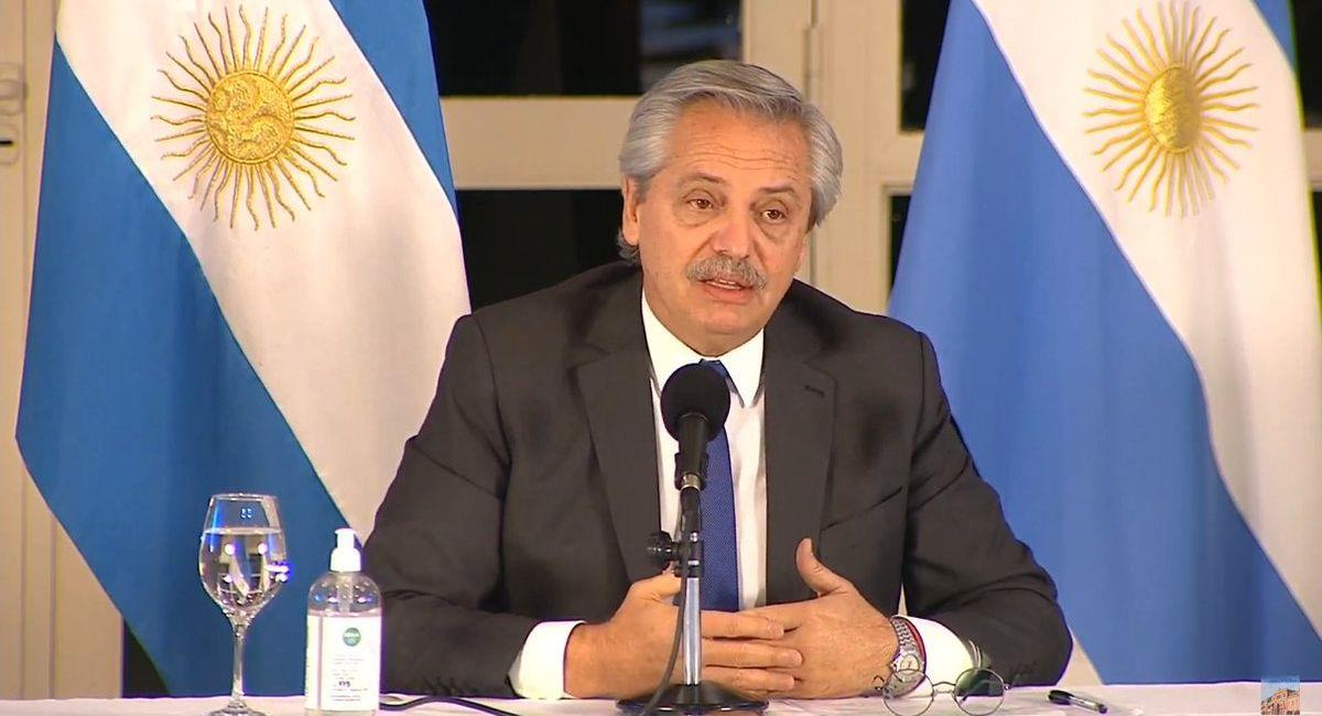 Alberto Fernández, presidente de Argentina. Foto: Telam