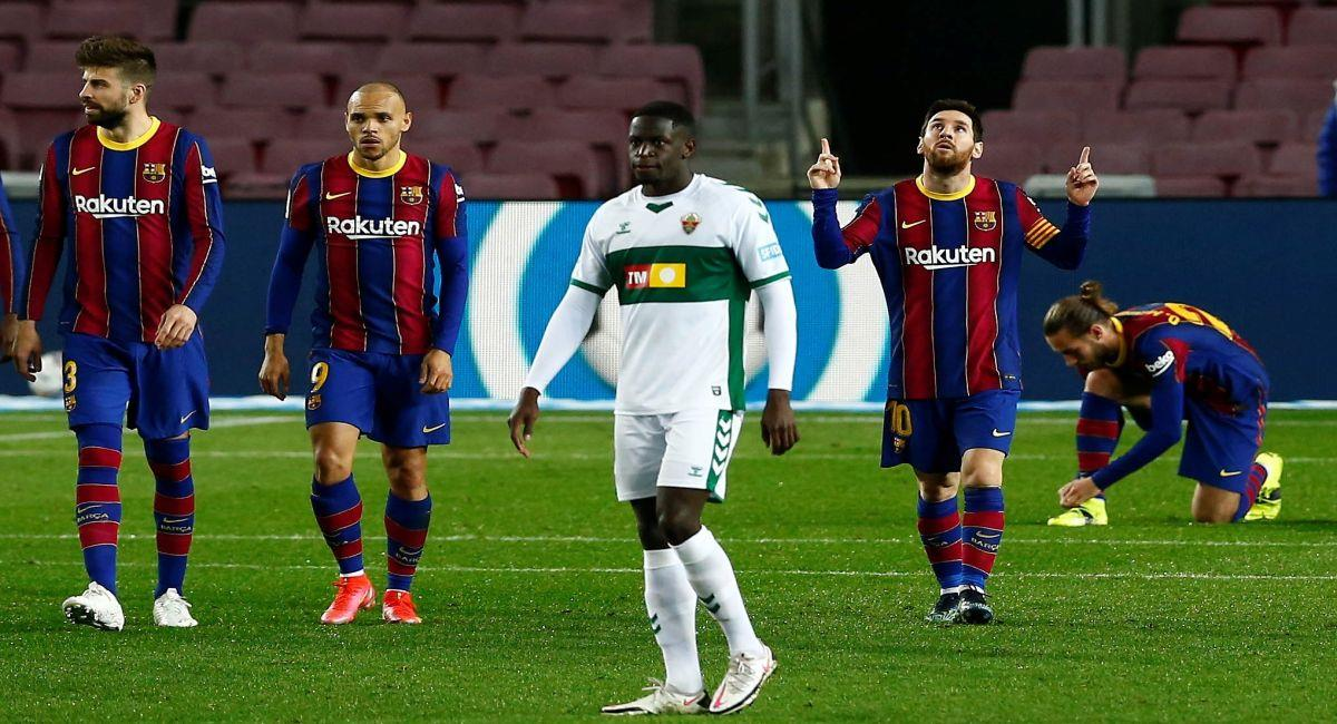 Barcelona se vuelve a acercar al primer lugar de LaLiga. Foto: EFE