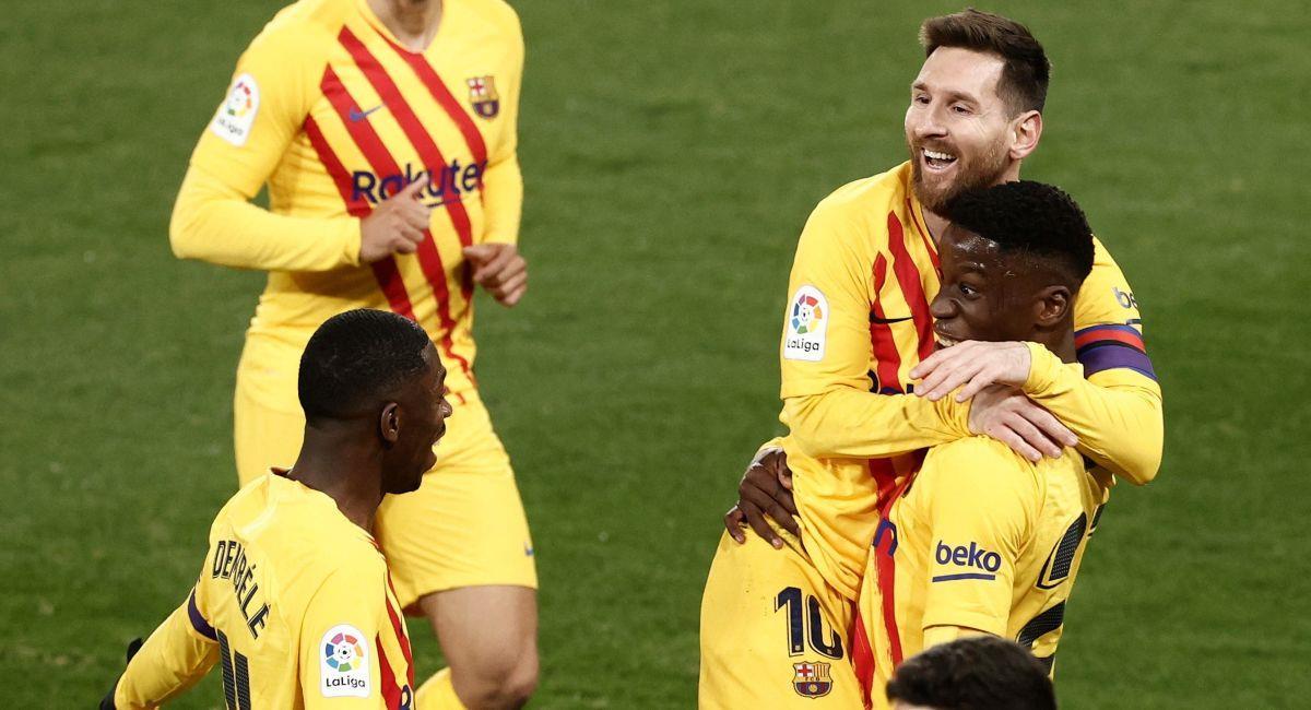 Barcelona ganó y sueña con conquistar LaLiga. Foto: EFE