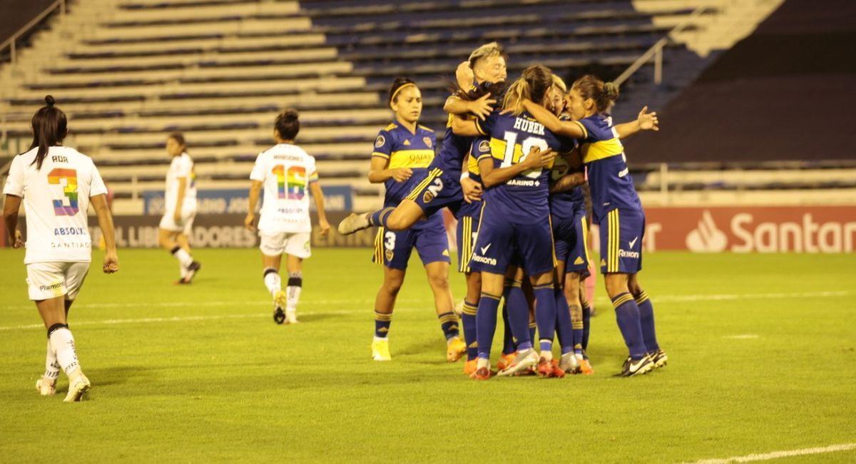 El equipo femenino de Boca Juniors en la Copa Libertadores. Foto: Facebook Club Boca Juniors