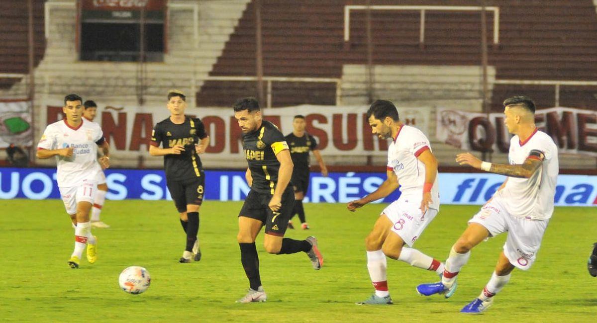 Huracán no pudo de local con Lanús. Foto: Twitter Liga Profesional de Argentina