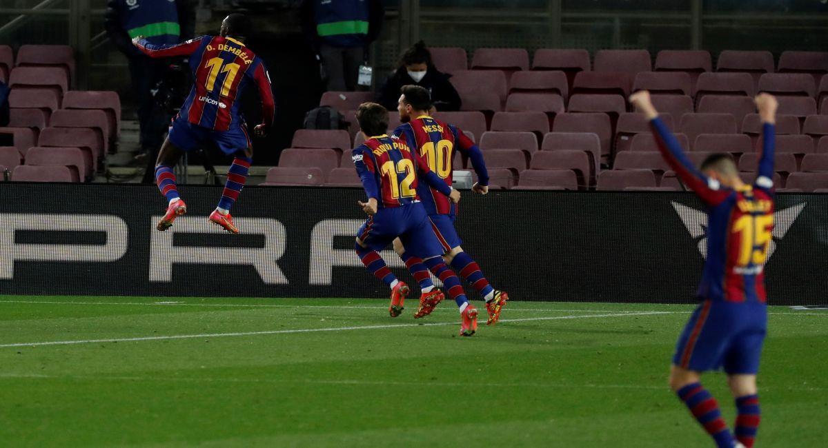 Barcelona a un paso de tomar el liderato de LaLiga. Foto: EFE