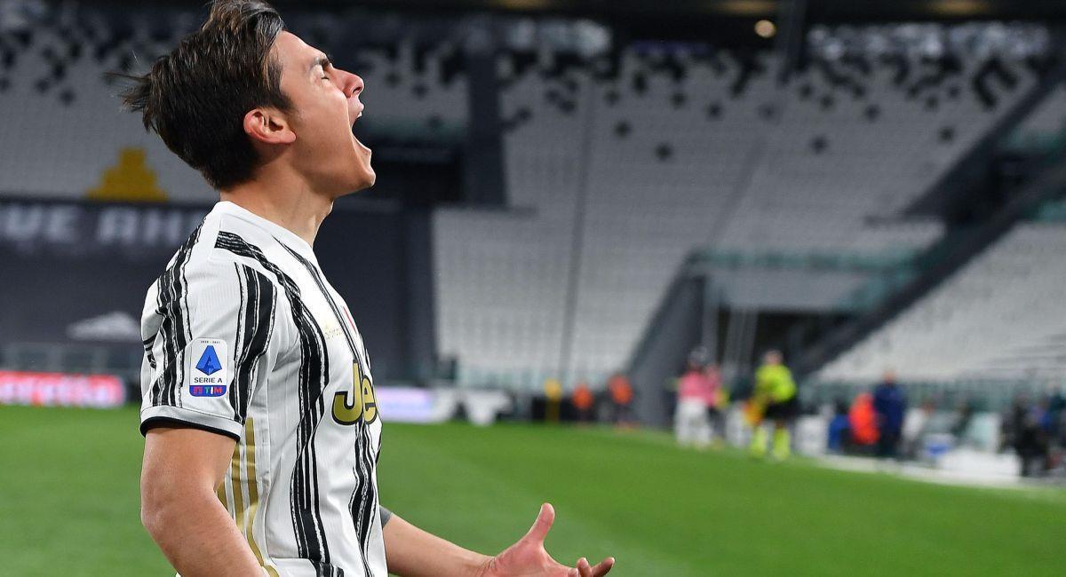 Paulo Dybala celebrando su gol con la Juventus. Foto: EFE