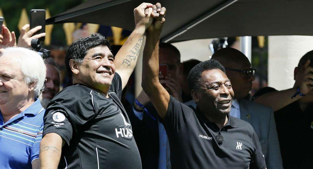 Pelé tuvo una marcada rivalidad deportiva con Maradona. Foto: Twitter