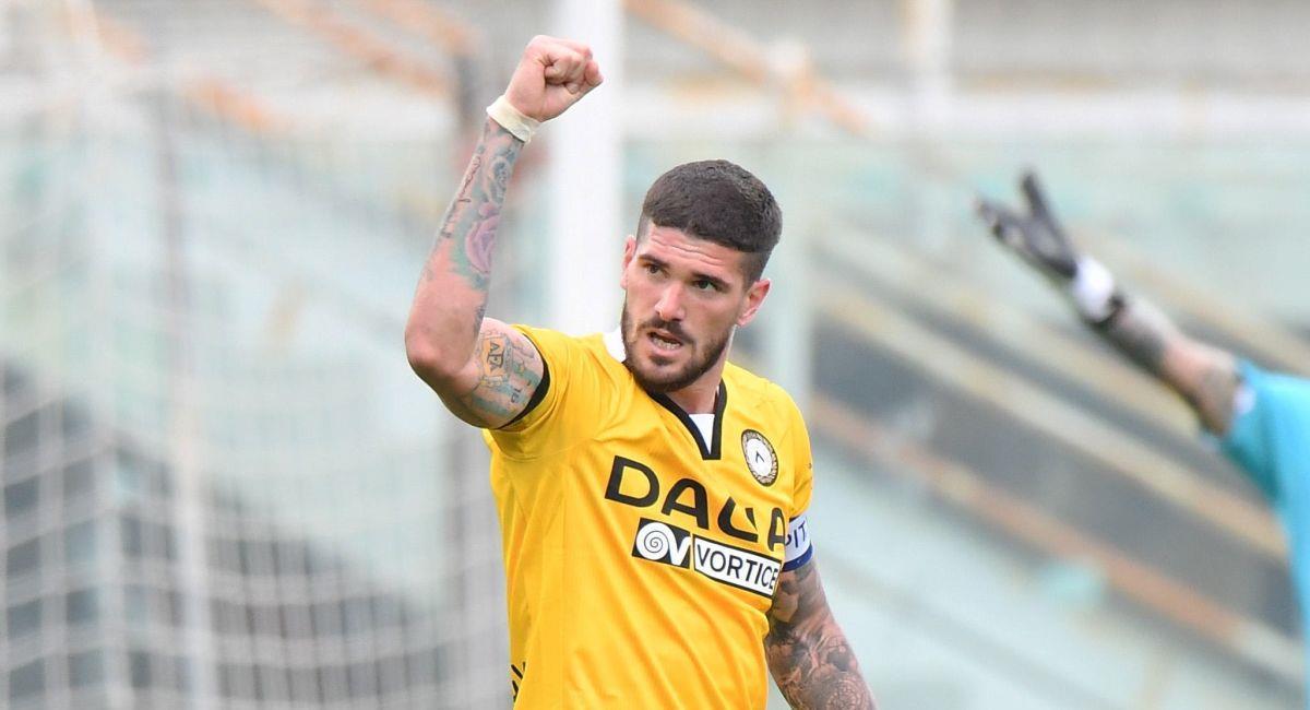 Rodrigo de Paul marcó doblete con el Udinese. Foto: EFE