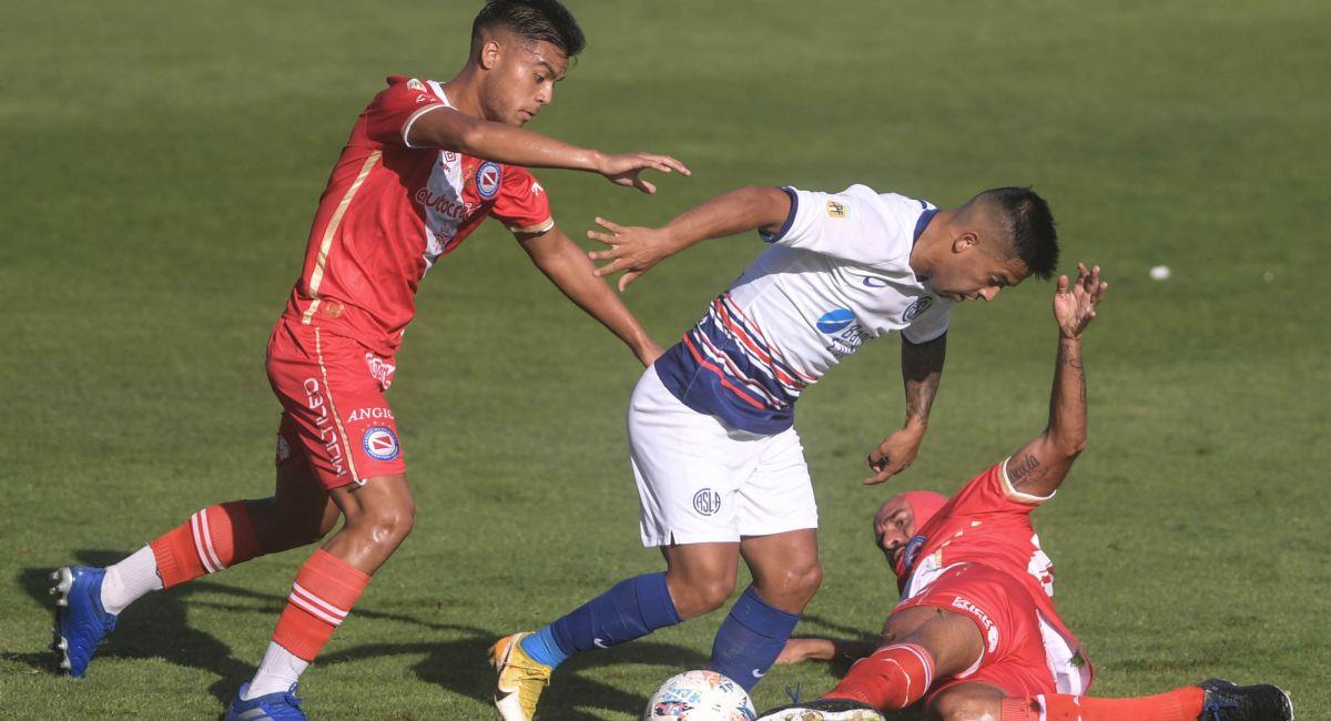 San Lorenzo tropezó ante Argentinos Juniors. Foto: Interlatin Interlatin Captura Futbolargentino.com