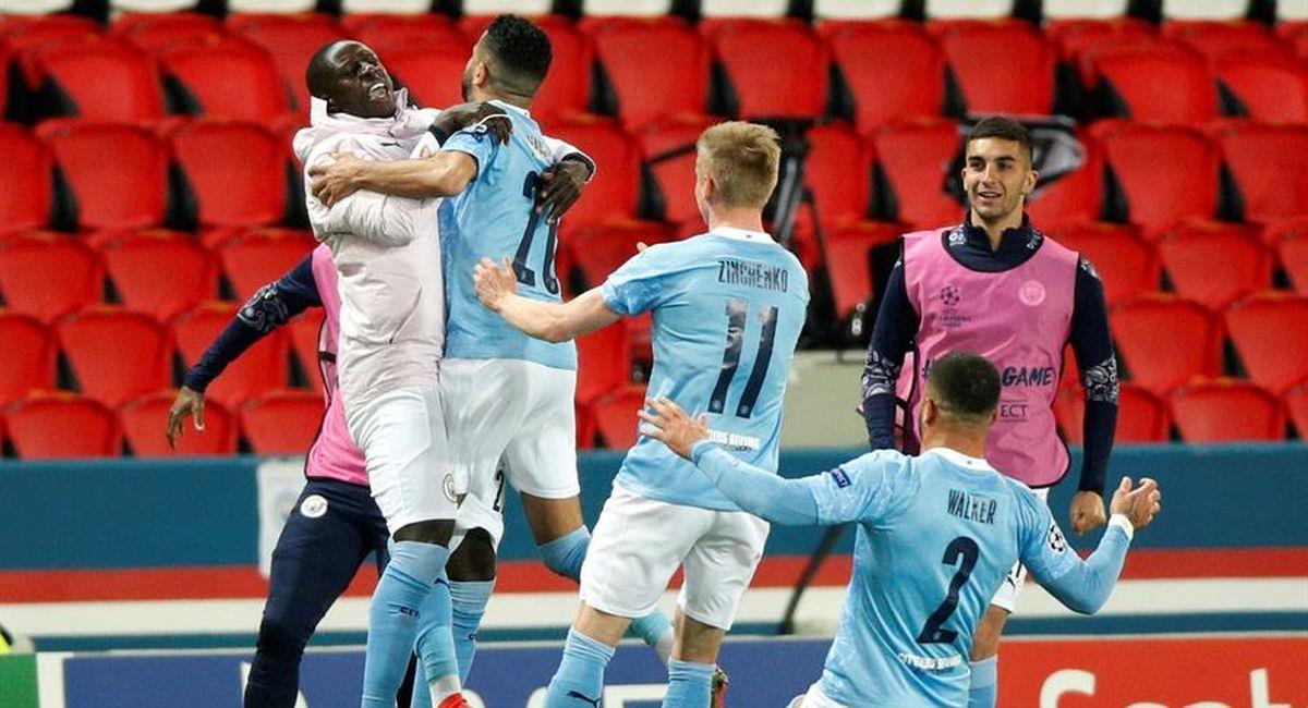 Manchester City venció al PSG en la Champions League. Foto: EFE