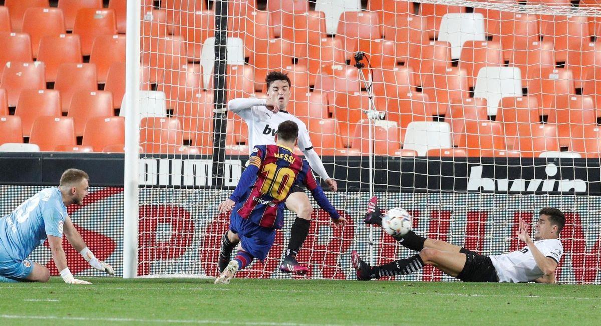 Lionel Messi sometió al Valencia en LaLiga. Foto: EFE