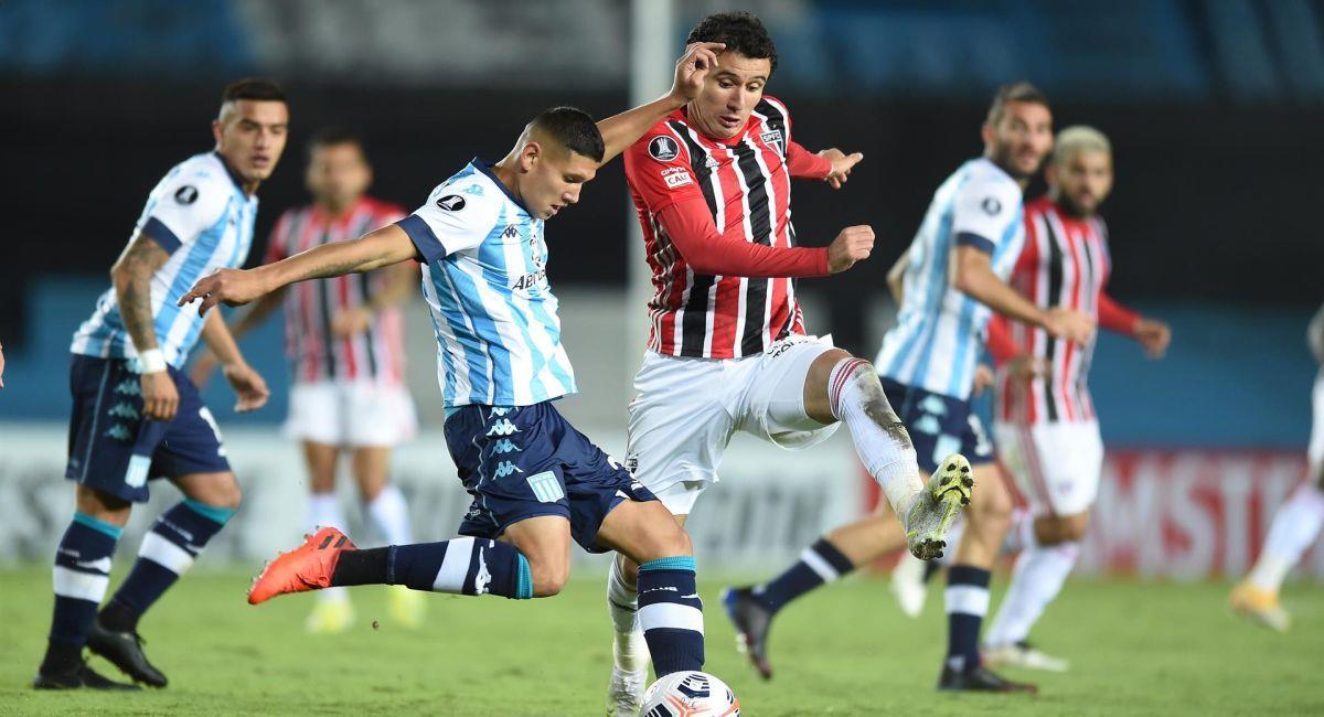 Racing pudo empatar como local ante Sao Paulo. Foto: EFE