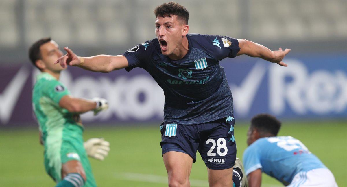 Racing no falló ante Sporting Cristal en la Copa Libertadores. Foto: EFE