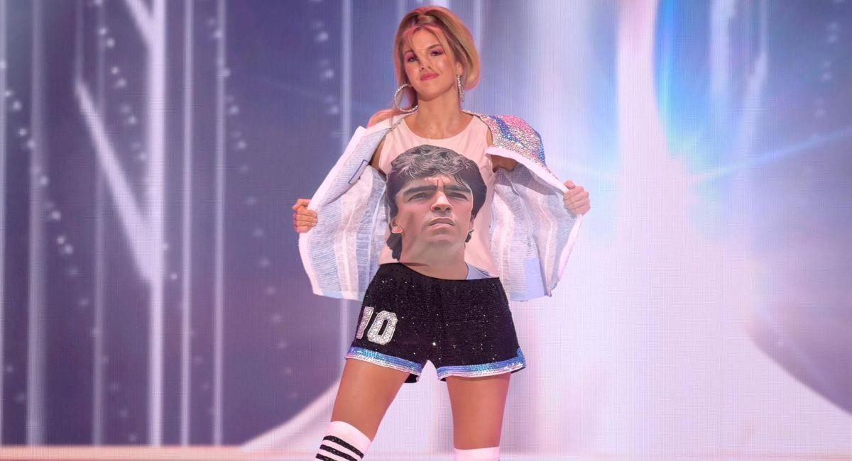 El homenaje a Diego Maradona en el Miss Universo. Foto: EFE