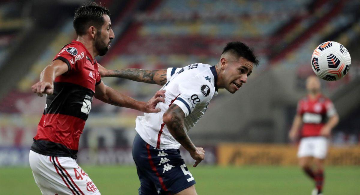 Vélez Sarsfield frenó al Flamengo en Brasil. Foto: EFE