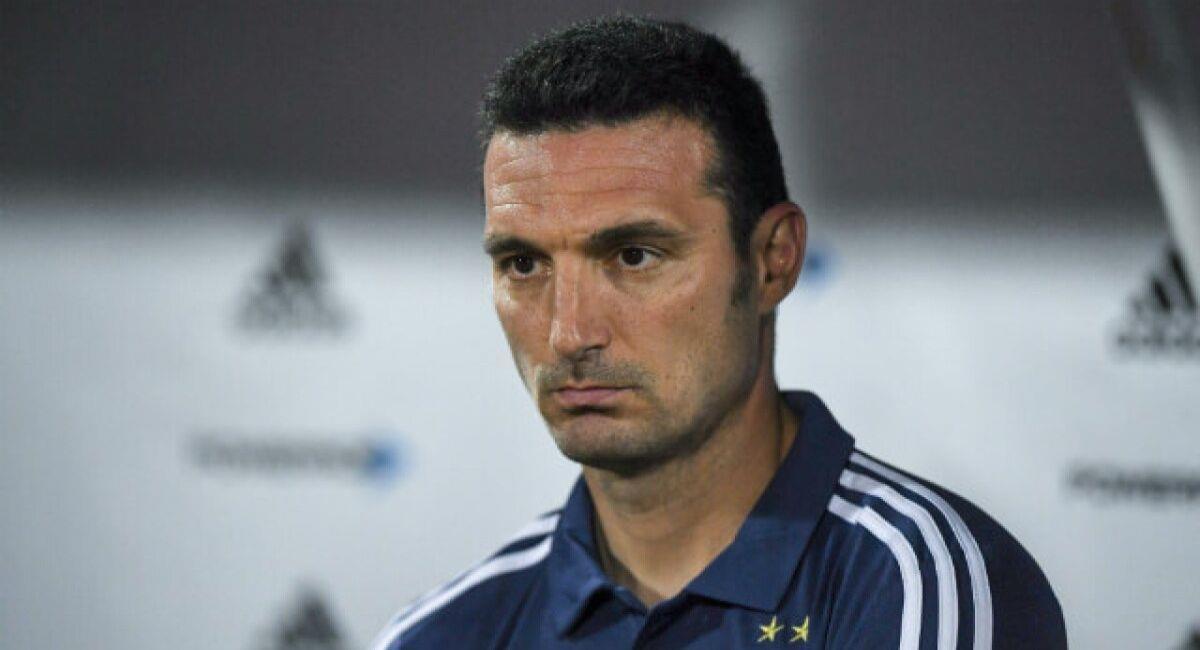 Lionel Scaloni, entrenador de Argentina. Foto: Twitter