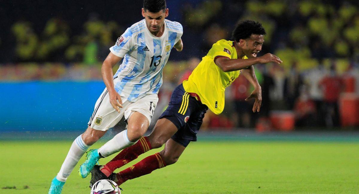 Argentina no pudo con Colombia en Barranquilla. Foto: EFE