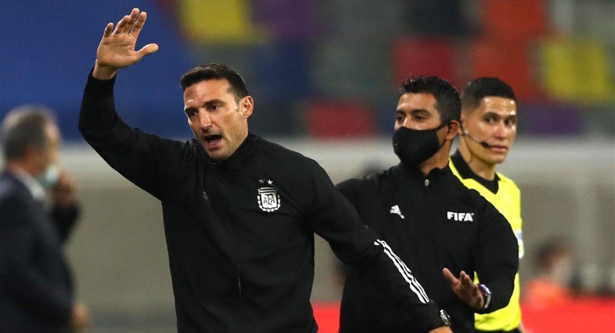 Lionel Scaloni disconforme con los empates de Argentina. Foto: EFE