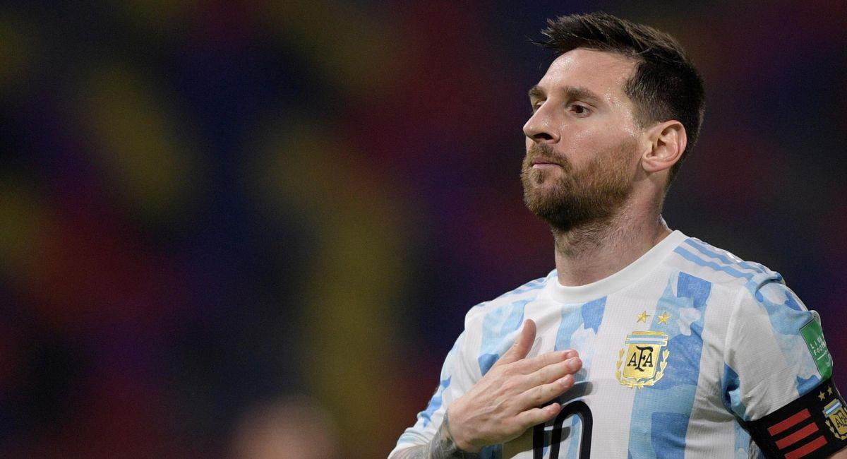 Lionel Messi, con la camiseta de Argentina. Foto: EFE