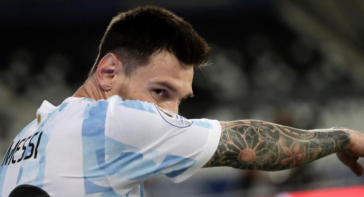 Lionel Messi, el goleador de Argentina. Foto: EFE