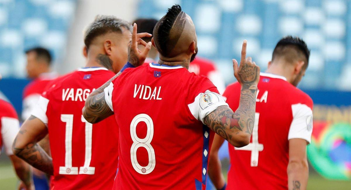 Chile venció a Bolivia en la Copa América. Foto: EFE