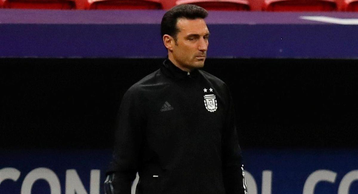Lionel Scaloni, entrenador de la Argentina. Foto: EFE