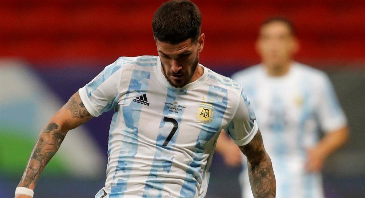 Rodrigo De Paul es uno de los valores de Argentina en la Copa América. Foto: EFE