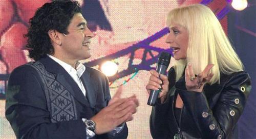 El baile de Maradona con Raffaella Carrá